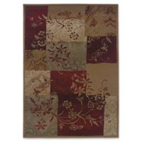 Oriental Weavers Genesis Abstract Floral 7'10 x 11' Area Rug in Red