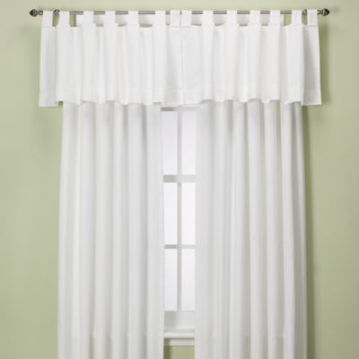 Union Square 120 Inch Tab Top Window Curtain Panel In White