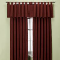 Union Square 120-Inch Tab Top Window Curtain Panel in Red
