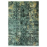 Dynamic Rugs Herndon Damask 2' x 3'11 Accent Rug in Blue