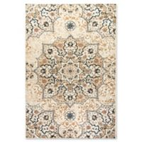 Dynamic Rugs Evolution Medallion 2' x 3'3 Accent Rug in Beige