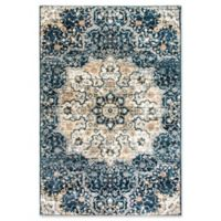 Dynamic Rugs Evolution Medallion 5'3 x 7'7 Area Rug in Navy