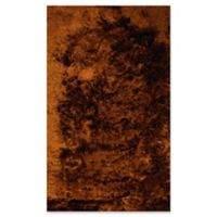 Dynamic Rugs Paradise 3' x 5' Lustrous Shag Accent Rug in Rust