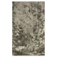 Dynamic Rugs Paradise 3' x 5' Lustrous Shag Accent Rug in Silver