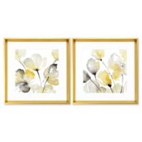 Stylecraft Watercolor Blossoms 20-Inch x 18-Inch 2-Piece Framed Print Wall Art Set