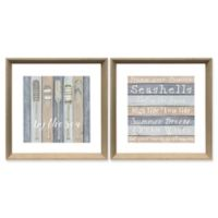 "StyleCraft ""Near the Shore""/""Oars by the Sea"" Painted Wall Art (Set of 2)"