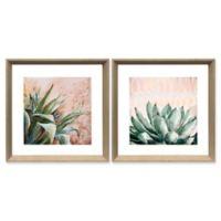 """Stylecraft """"Dessert Botanicals"""" 2-Piece Framed Print Wall Art Set"""