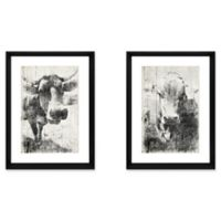 StyleCraft Faded Cows Wall Art Prints (Set of 2)