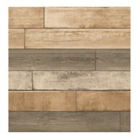 A-Street Prints Weathered Plank Wallpaper in Wheat