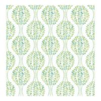 A Street Prints Versailles Floral Damask Wallpaper in Green