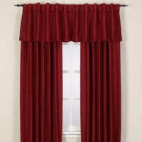 Reina Rod Pocket/Back Tab 144-Inch Window Curtain Panel in Merlot