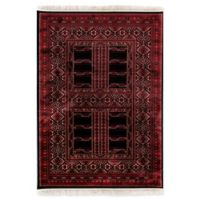 Dynamic Rugs Crown Tehran 2' x 3'5 Accent Rug in Red/Black