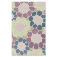 Surya Peek-A-Boo Floral Hand-Knotted 2' x 3' Area Rug in Mauve