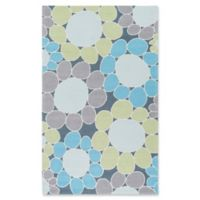 Surya Peek-A-Boo Floral Hand-Knotted 5' x 7'6 Area Rug in Grass Green