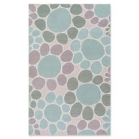 Surya Peek-A-Boo Floral Hand-Knotted 5' x 7'6 Area Rug in Sage