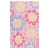 Surya Peek-A-Boo Floral Hand-Knotted 5' x 7'6 Area Rug in Pink/Ivory