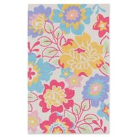 Surya Peek-A-Boo Floral 2' x 3' Accent Rug in Yellow
