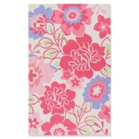 Surya Peek-A-Boo Floral 3' x 5' Area Rug in Pink