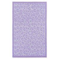 Surya Peek-A-Boo Animal Print 3' x 5' Area Rug in Lilac