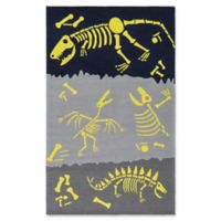 Surya Peek-A-Boo Novelty Hand-Knotted 2' x 3' Area Rug in Navy