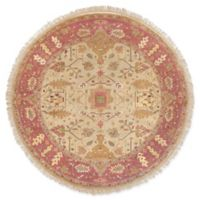 Surya Adana Classic 8' Round Area Rug in Camel/Red