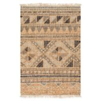 Surya Lenora Global 2' x 3' Accent Rug in Camel/Dark Brown
