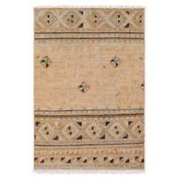 Surya Lenora Global 5' x 7'6 Area Rug in Camel/Dark Brown