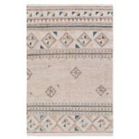 Surya Lenora Global 5' x 7'6 Area Rug in Dark Brown/Emerald