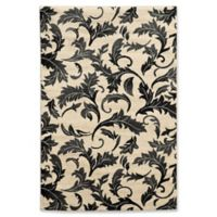Linon Home Décor Elegance Forest 5' x 7'3 Area Rug in White