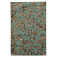 Linon Home Décor Elegance Forest 5' x 7'3 Area Rug in Turquoise