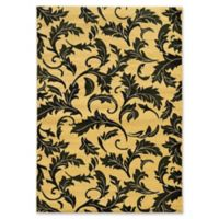 Linon Home Décor Elegance Forest 5' x 7'3 Area Rug in Cream