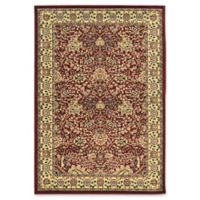 QLinon Home Décor Elegance Zeigler 2' x 3' Accent Rug in Red