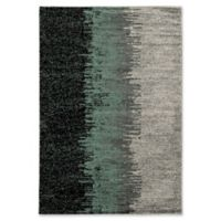Linon Home Lave Elegance Loomed 5' x 7'3 Area Rug in Turquoise