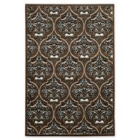 Linon Home Elegance England 8' x 10' Area Rug in Brown