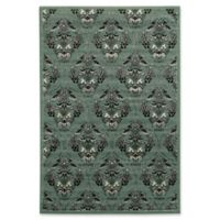 Linon Home Elegance England 8' x 10' Area Rug in Turquoise