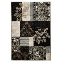 Linon Home Décor Elegance 8' x 10' Marble Accent Rug in Black
