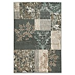 Linon Home Décor Elegance 8' x 10' Marble Accent Rug in Turquoise/Grey
