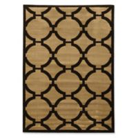 Linon Home Décor Ellegance Connecting 5' x 7'3 Area Rug in Beige