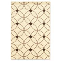 Linon Home Claremont Cylinder 5' x 7' Area Rug in Cream/Grey