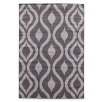 Linon Home Claremont Drops 2' x 3' Accent Rug in Grey