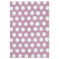 Loloi Rugs Lola Hand-Tufted Shag 3' Round Accent Rug in Lilac/White