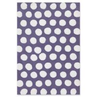 Loloi Rugs Lola Hand-Tufted Shag 5' x 7' Accent Rug in Plum/White