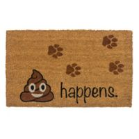"Entryways It Happens 17"" x 22"" Coir Door Mat in Brown/Black"