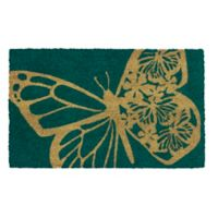 "Entryways Butterfly 17"" x 28"" Coir Door Mat"