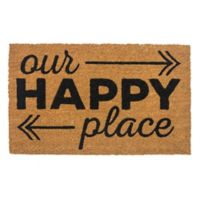 "Entryways Happy Place 17"" x 28"" Coir Door Mat"