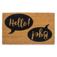 "Entryways Hello Bye 17"" x 28"" Coir Door Mat"