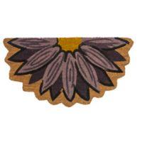 """Entryways Aster 15"""" x 28"""" Coir Door Mat in Purple/Yellow"""