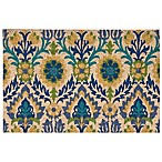 Medallion Tile 18-Inch x 30-Inch Coir Door Mat in Blue