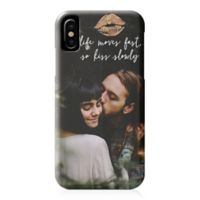"""Designs Direct """"Life Moves Fast So Kiss Slowly"""" iPhone® X Case"""