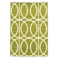 Linon Home Décor Claremont 5' x 7' Links Area Rug in Green/Cream